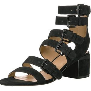 Brand new suede black sandals